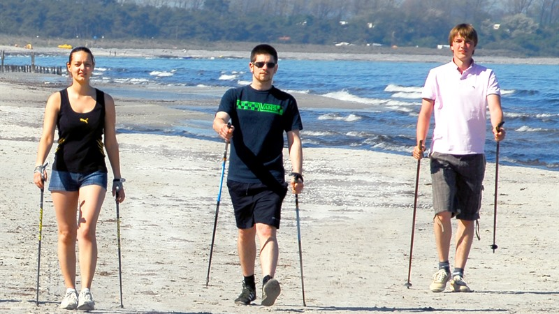 Nordic Walking at the beach